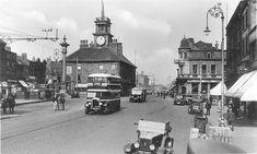 Stockton On Tees, Grammar School, East Side, Big Ben, 1930s, Street View, Building, Travel, Viajes