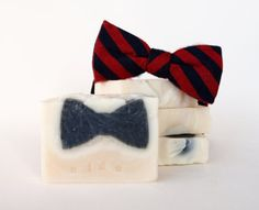 How cute is this Black Tie Handmade Soap?! Made with nourishing and detoxifying ingredients. Who says green is boring?! $7.95 via Greenaby.ca