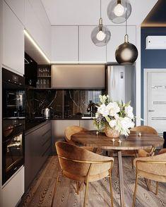 47 best simple kitchen design ideas for 2020 45 Simple Kitchen Design, Kitchen Room Design, Luxury Kitchen Design, Kitchen Dinning, Luxury Kitchens, Living Room Kitchen, Dining Room Design, Home Decor Kitchen, Interior Design Kitchen