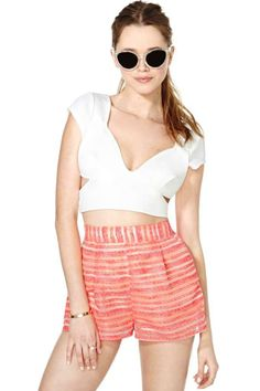 Nasty Gal Electric Vision Shorts