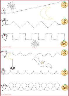 Schede pregrafismo percorsi: linee rette e curve | genitorialmente