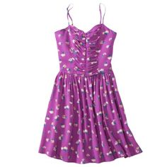 Xhilaration Juniors Sleeveless Dress - just bought this for a wedding. very flattering for girls with a larger bust