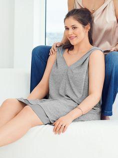 V-Neck Dress (Plus Size) 07/2016 - knit plus woven underneath