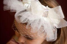 Such a unique headband for a flower girl! Wedding, headband, girls