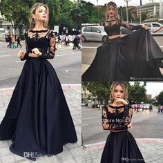 black-lace-two-pieces-prom-dresses-long-illusion