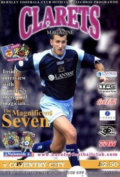 9 November 2002 v Burnley Lost Coventry City Fc, Thing 1, Burnley, The Magicians, Interview, Football, Club, Seasons, Baseball Cards