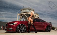 #modelmonday #tuesdaytease #photoshoot with the #lovely @misskinkztah and @diego_s550 #mustang on #csm02 @conceptonewheels #clouds #bagged…