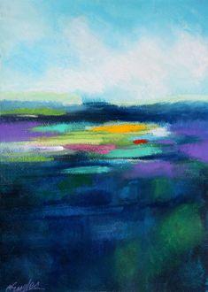Carol Engles Art: San Diego Lagoon, abstract landscape by Carol Engles