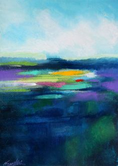 Carol Engles Art: San Diego Lagoon, abstract landscape by Carol Engles