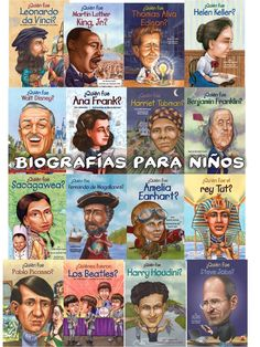 Biografias en Español para Niños - I'm reading the da Vinci one. These are excellent. I'm actually learning more than just Spanish from them.  Fun and fascinating