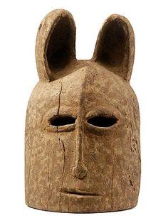 Dogon hyena mask, Mali, 20th century (wood)