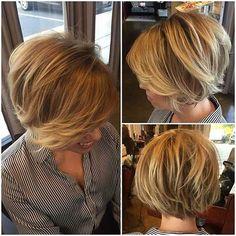 Krissa-Fowles-Hair Best Short Bob Haircuts for Women - Short Hair Styles Bob Haircuts For Women, Best Short Haircuts, Short Hair Cuts For Women, Haircut Short, Choppy Bob Hairstyles, Bob Hairstyles For Fine Hair, Pixie Haircuts, Easy Hairstyle, Wedding Hairstyle