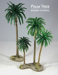The Weasel's Page of Miniature Painting: Building Palm Tree Stands Christmas Palm Tree, Christmas Nativity Scene, Miniature Palm Trees, Tree Stands, Coconut Palm Tree, Mini Plants, Palm Tree Leaves, Paper Flowers, Decoration
