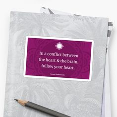 Follow Your Heart, Transparent Stickers, Self Confidence, Affirmations, It Works, Brain, Art Prints, Printed, Awesome