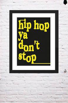 Hip Hop Lyric Print