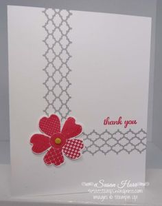One Layer Card, Flower Shop, Summer Silhouettes, SUO, Stampin Up, susanstamps.wordpress.com