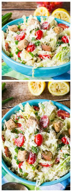 Caesar Salad-style Coleslaw I would leave out the anchovies. Salad Bar, Soup And Salad, Vegetarian Recipes, Cooking Recipes, Healthy Recipes, Caesar Salad, Coleslaw, Summer Salads, Good Food