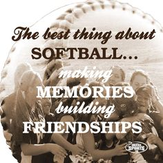 As if we needed more reasons to love softball? #softballinspiration