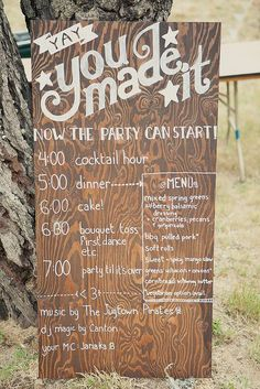 DIY reception program. I want something similar but on a chalkboard instead?
