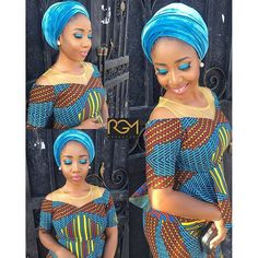 Check Out This Lovely Ankara Skirt and Blouse With Turban Headwrap .Check Out This Lovely Ankara Skirt and Blouse With Turban Headwrap African Attire, African Wear, African Dress, African Fashion, African Outfits, Latest Ankara Dresses, Latest Ankara Styles, Ankara Skirt And Blouse, Lace Outfit