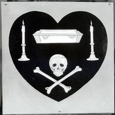 "The ""coeur noire"" (""black heart"") was the personal insignia of French WWI ace Charles Nungesser.  NASM A-32949-A. National Air and Space Museum Archives."