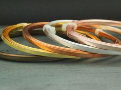 SALE Flat Artistic Wire  Non Tarnish Silver by UnkamenSupplies