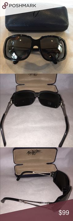 Maui Jim's Ladies Bamboo style  black sunglasses Great shape! Maui Jim Bamboo sides, black frame polarized lenses.  Maui Jim's are amazing!  Plus, the company stands by their product! Maui Jim Accessories Glasses