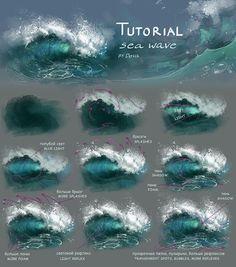 "drawingden:  ""Sea wave tutorial by Develv  """