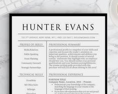 Simple resume templates to make your resume professional. All of these visual CV templates come with a matching cover letter and reference page. Template Cv, Nursing Resume Template, Simple Resume Template, Cover Letter Template, Resume Templates, Resume Cv, Resume Design, Cv Design, Design Ideas