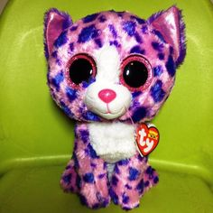5080420d8f6 Ty Beanie Boos 13 REAGAN Pink Cat Claires Exclusive Ed. Boo Soft Toy NWMT Ty