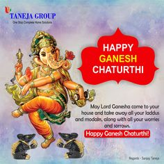 May Lord Ganesha bring peace, happiness and prosperity to you and your family. Happy Ganesh Chaturthi!