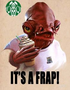 If I worked at Starbucks, I would draw this on every single frappuccino.