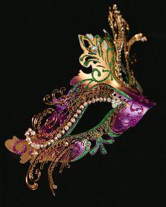 Metal Embellished Venetian Mask