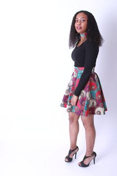 Skater Skirt Ankara African Print