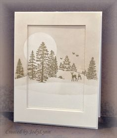 Snowy Woods by jodylb - Cards and Paper Crafts at Splitcoaststampers