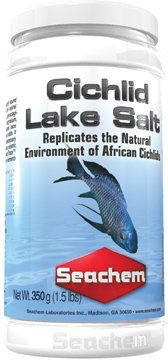 $4.79-$10.80 Cichlid Lake Salt™ is a chemically sound blend of salts designed to replicate the natural environment of Cichlids. It contains all physiologically essential elements such as magnesium, calcium, sodium, potassium, and includes trace components such as iron, aluminum, and iodide. It does not contain harmful or unnecessary ingredients such as nitrates, phosphates, arsenic, lithium, or c ...