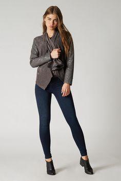 Charcoal Jacket | Blank NYC Olive Jacket, Green Jacket, Drape Front Jacket, Jackets For Women, Women's Jackets, Denim Jackets, Riders Jacket, Fringe Jacket, Blank Nyc