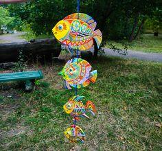 Mexican Folk Art, Clay Cats, Talavera Pottery, Bright Paintings, Ceramic Fish, Garden Sculpture, Fish Sculpture, Garden Art, Beautiful Fish