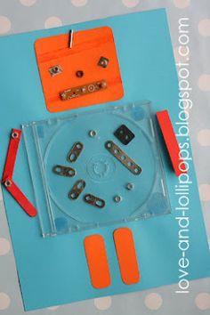 Love and lollipop: get well soon, robot - Best Craft Ideas Craft Activities, Preschool Crafts, Fun Crafts, Crafts For Kids, Motor Activities, Preschool Ideas, Robots For Kids, Art For Kids, Nono Le Petit Robot