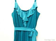 DIY Clothes DIY Refashion DIY Two-Tone Maxi Sundress