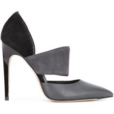 Calvin Klein pointed toe pumps (5.895 ARS) ❤ liked on Polyvore featuring shoes, pumps, heels, grey, pointed toe shoes, grey shoes, pointy toe shoes, grey heeled shoes and pointed-toe pumps