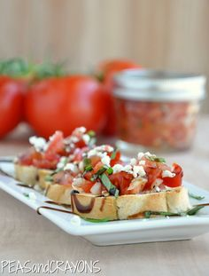 Mellow Mushrooms Bruschetta Made this a few weekends ago with fresh tomatoes, basil & parsley from my garden! Ah-mazing!
