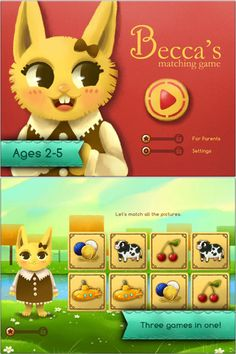 Kids Match Game that grow with your child - kids of a wide age range will enjoy the app with its many options #kidsapps #GameApps
