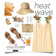 """Heat Wave"" by judysingley-polyvore ❤ liked on Polyvore featuring Frontgate, Hollister Co., Olsen, Anja and heatwave"