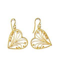 The Heart Leaf Earrings by JewelMint.com, $48.00