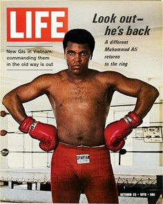 """Muhammad Ali, Life Magazine cover, """"Look out - he's back"""" Oct 23, 1970"""