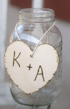 Wedding Centerpiece Hearts with Initials