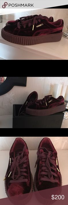 Fenty Puma Velvet Creepers BRAND NEW. I bought these sneakers when they dropped and literally have never worn them so that is why I'm selling them. I basically tried them on and then never wore them again. I still have the original box and velvet pouch they came in. They are gorgeous shoes!! Puma Shoes Sneakers