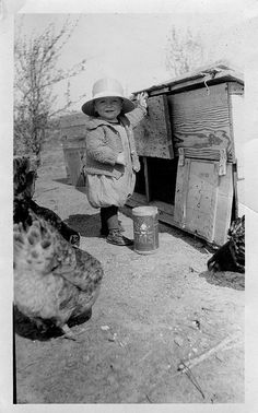 feeding the hens by Lulu at Home ( away ), via Flickr>>> so cute!!!!