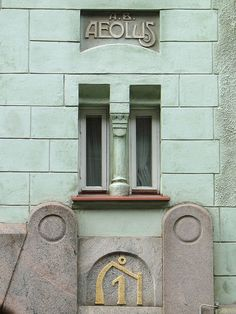 L'immeuble Aeolus, quartier de Katajanokka (Helsinki) Helsinki, Art Nouveau, Art Deco, Finnish Language, Romanticism, Door Handles, Northern Lights, Destinations, Windows